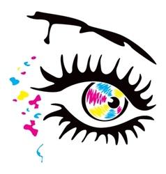Printer eye vector