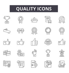 quality line icons signs set outline vector image