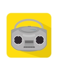 Radio retro isolated icon vector