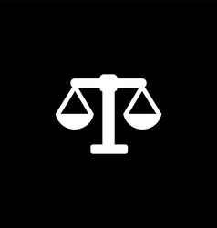 scales symbol logo vector image
