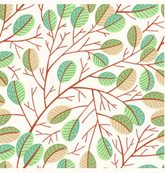 seamless spring tree pattern vector image