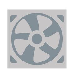 simple fan icon vector image