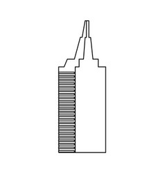 Skyscraper building city business architecture vector