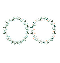 Spring leaves wreath oval and square ellipse for vector