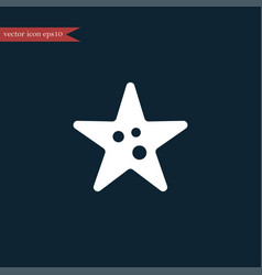 Starfish icon simple vector