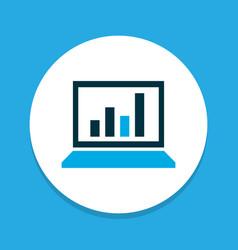 statistics icon colored symbol premium quality vector image