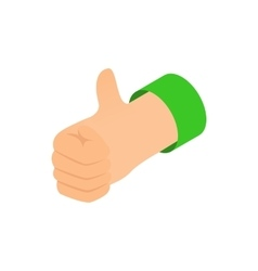 Thumb up icon isometric 3d style vector image