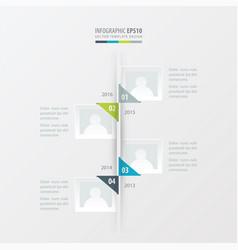 timeline green blue gray color vector image