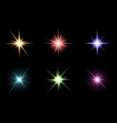 Transparent star symbol icon design beautiful of vector
