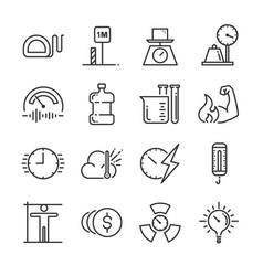 Unit of measurement icon vector