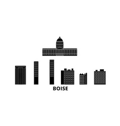 united states boise flat travel skyline set vector image