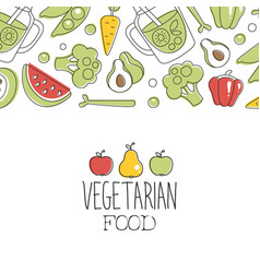 Vegetarian food banner template can be used vector
