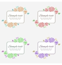 Vintage frame with floral pattern vector image