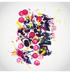 watercolor texture Watercolor spray background vector image