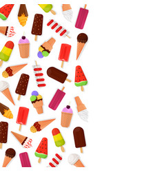 ice cream banner vector image