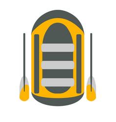 raft icon tourism equipment vector image