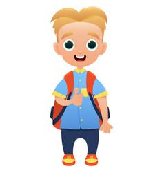 schoolchild cute cartoon character vector image