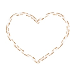 Shiny ribbon Valentines day EPS 10 vector image vector image