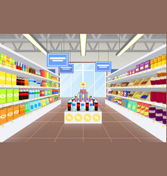 supermarket and product poster vector image