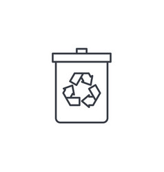 trash recycling thin line icon linear vector image vector image