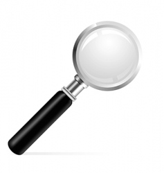 Beautiful illustration of a magnifier vector