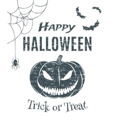 Happy Halloween poster template vector image vector image