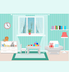 living room interior including armchair coffee vector image