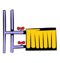radiator icon cartoon vector image