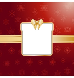 Red christmas present background and border vector image vector image