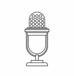 Retro microphone icon outline style vector image vector image