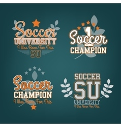 Soccer Badges Set vector image