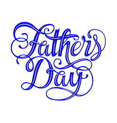 Happy fathers day typography vintage vector