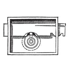 Lock vintage engraving vector image