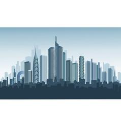 panorama of modern city vector image