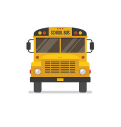 School bus front view vector