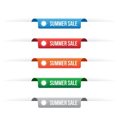 Summer sale paper tag labels vector image