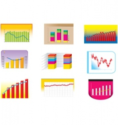 graph collection vector image vector image