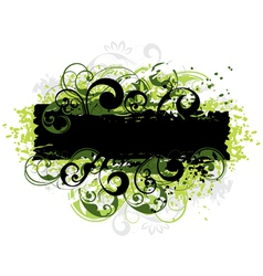 green and black border vector image vector image