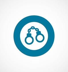 handcuffs bold blue border circle icon vector image