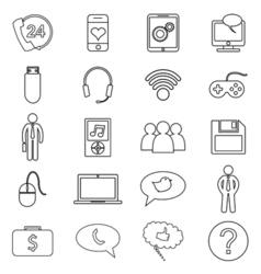 Simple set of customer relationship management vector image