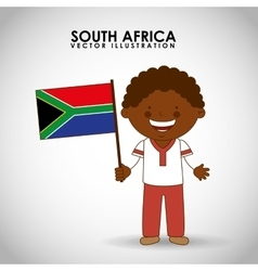 south african kid vector image