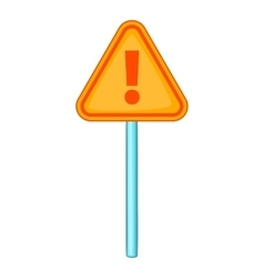 Warning sign with exclamation icon cartoon style vector image vector image