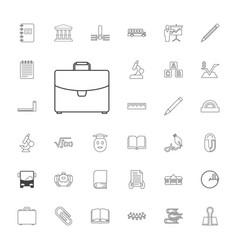 33 school icons vector