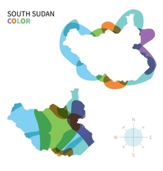 abstract color map south sudan vector image