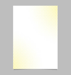 abstract halftone dot pattern flyer template vector image