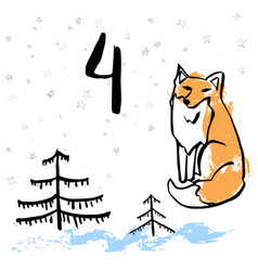 Advent calendar or cards vector