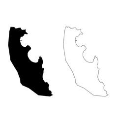Agua grande district democratic republic sao vector