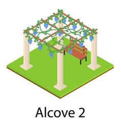 Alcove icon isometric style vector