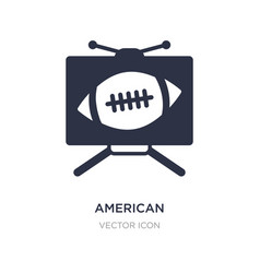 American football television icon on white vector