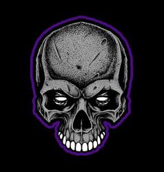 angry skull vector image